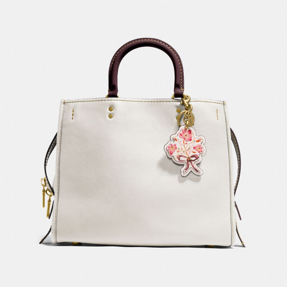 Coach Flower With Bow Bag Charm Alternate View 2