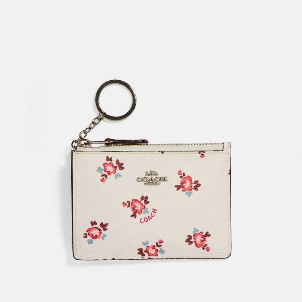 MINI SKINNY ID CASE WITH FLORAL BLOOM PRINT