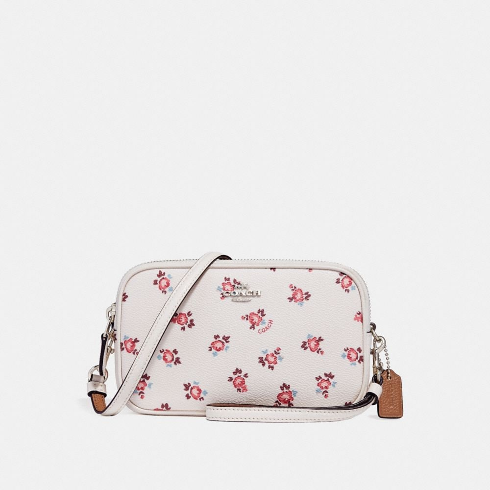 Coach Crossbody Clutch With Floral Bloom Print