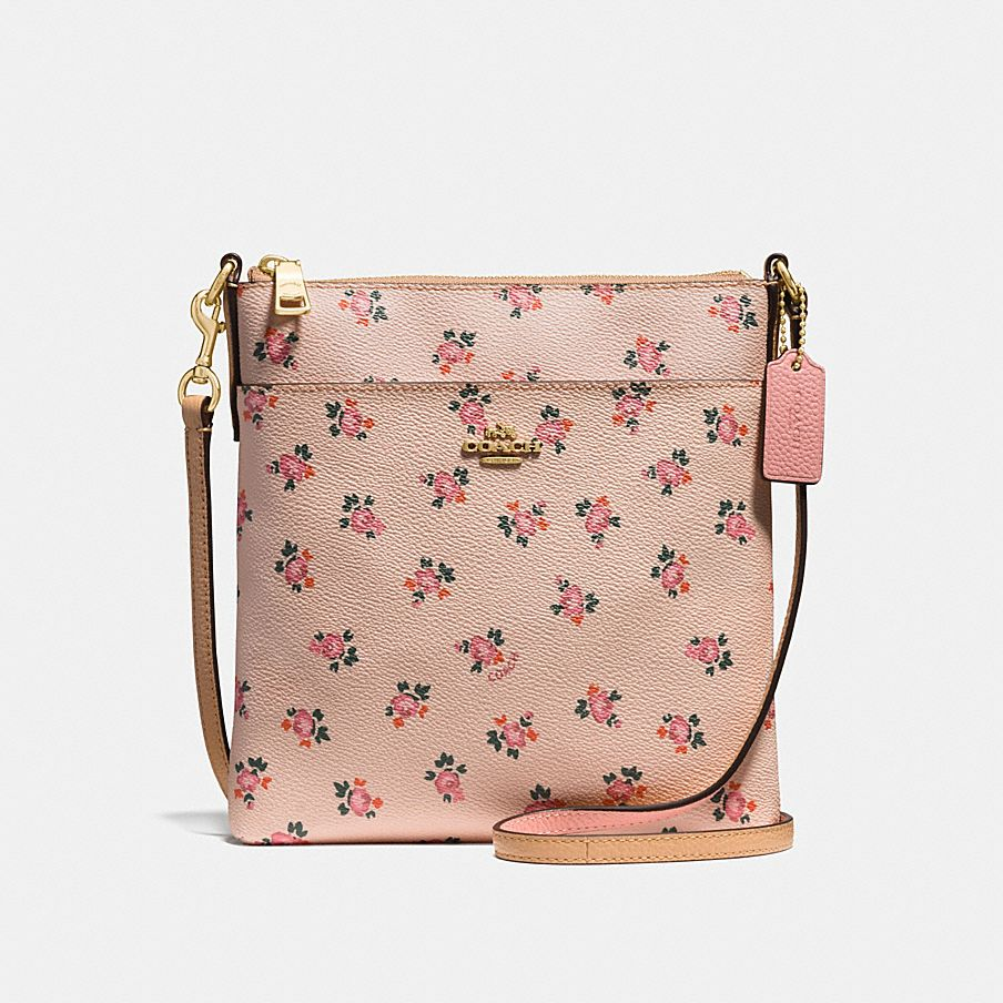 MESSENGER CROSSBODY WITH FLORAL BLOOM PRINT