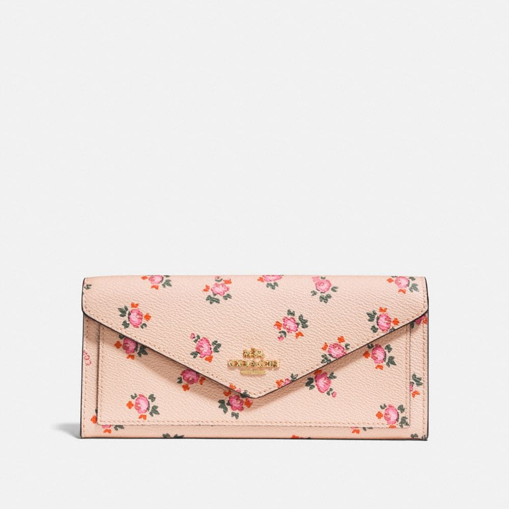 soft wallet with floral bloom print