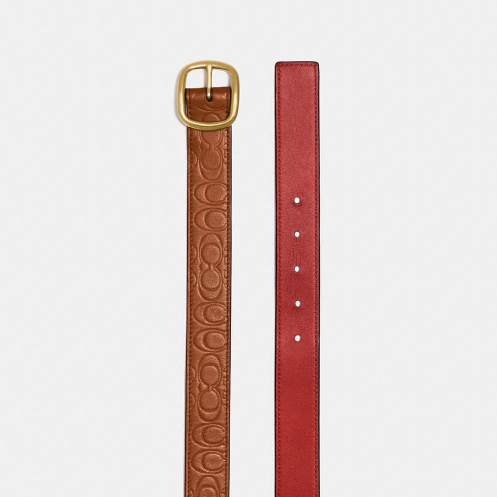 Coach Classic Reversible Belt in Signature Leather Alternate View 1