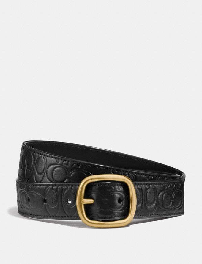 Coach Classic Reversible Belt in Signature Leather Black/Black/Brass CYBER MONDAY SALE Women's Sale Accessories