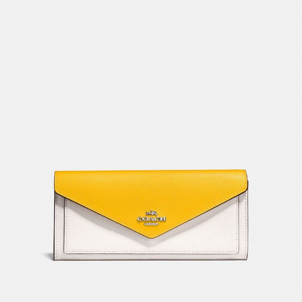 soft wallet in colorblock