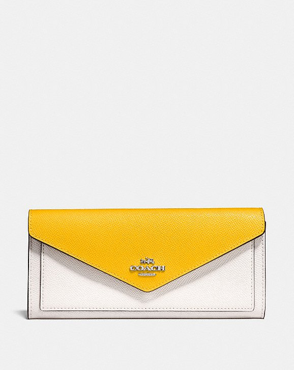 Coach Soft Wallet With Colorblock