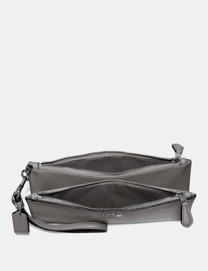 Coach Double Zip Wallet Heather Grey/Dark Gunmetal 30% off Select Full-Price Styles Alternate View 1