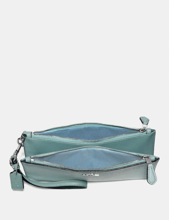 Coach Double Zip Wallet Sage/Silver SALE Women's Sale Wallets & Wristlets Alternate View 1