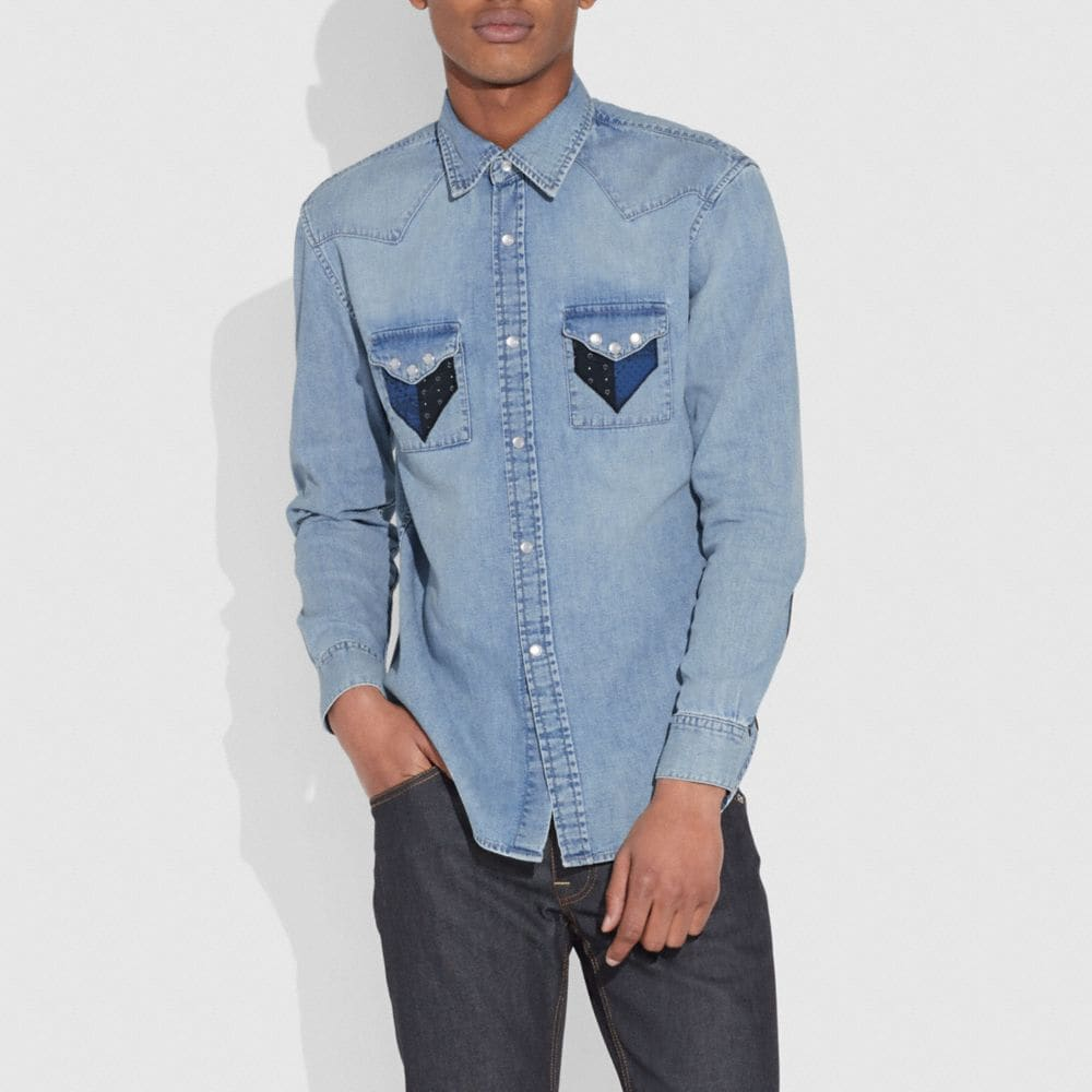 Coach Patchwork Denim Shirt