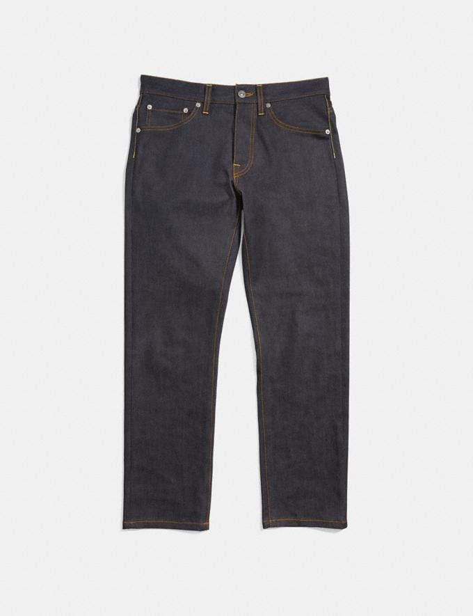 Coach Classic Denim Pant Indigo Men Ready-to-Wear Tops & Bottoms