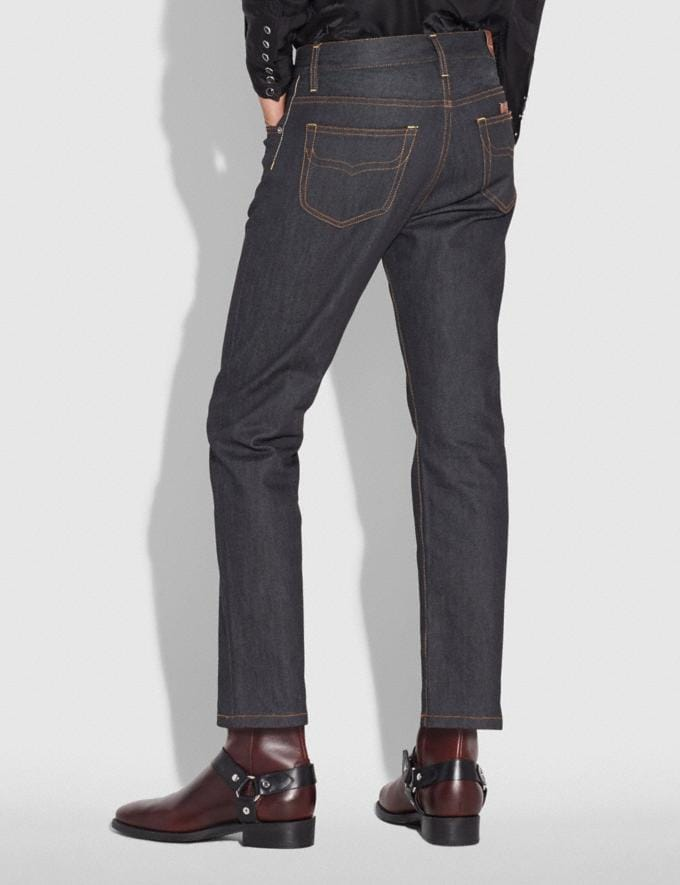 Coach Classic Denim Pant Indigo Men Ready-to-Wear Tops & Bottoms Alternate View 2