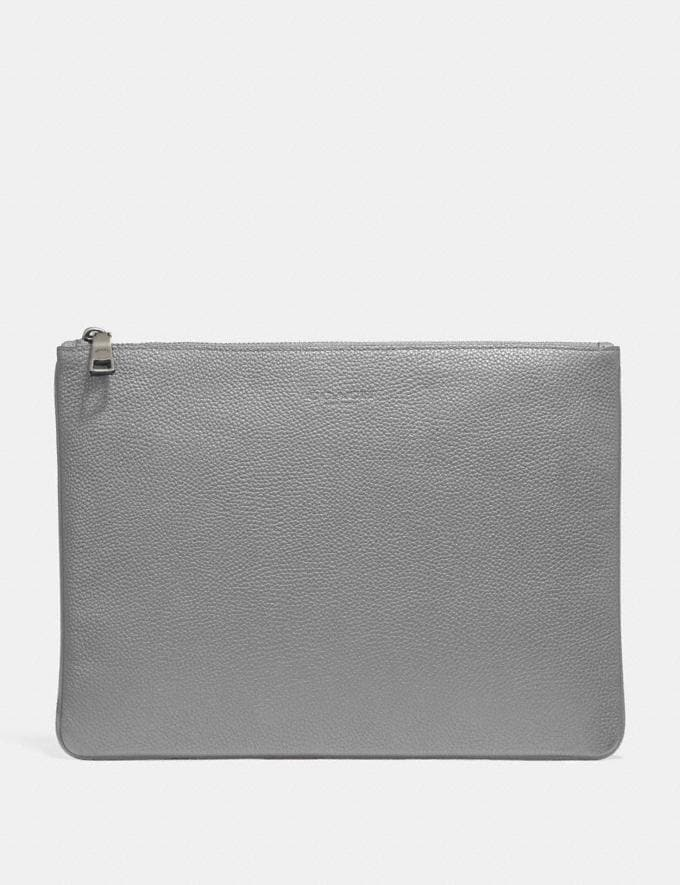 Coach Large Multifunctional Pouch Heather Grey Men Accessories Tech & Travel