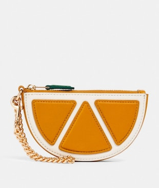 ORANGE SLICE POUCH BAG CHARM