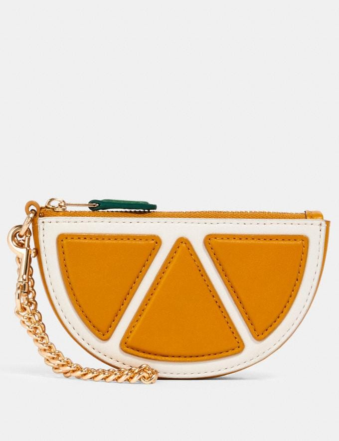 Coach Orange Slice Pouch Bag Charm Im/Orange