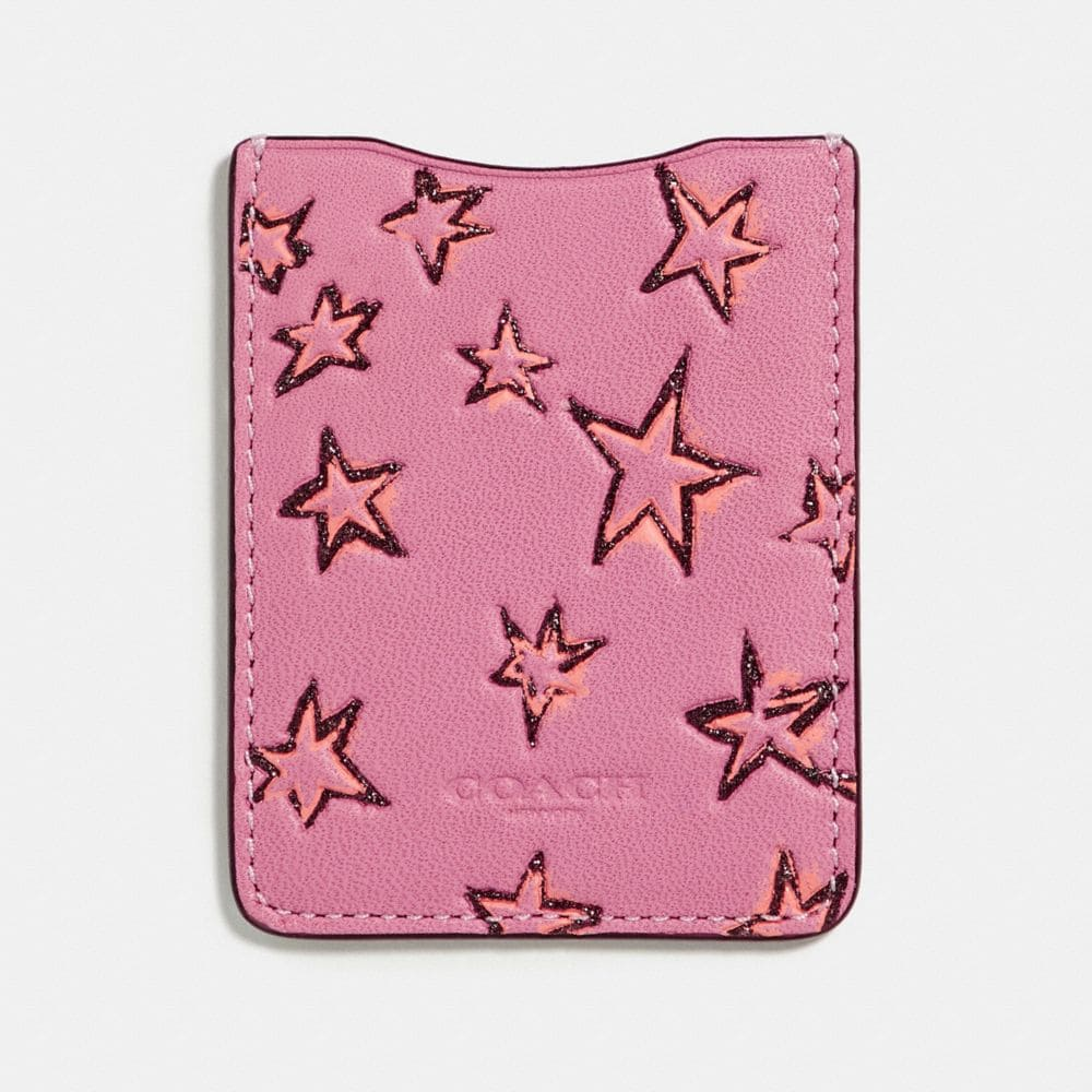 Coach Phone Pocket Sticker With Star Print