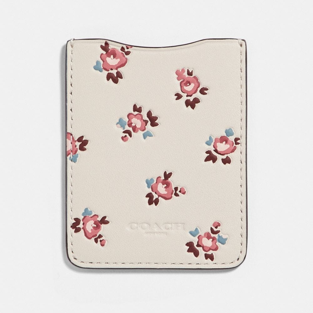 Coach Phone Pocket Sticker With Floral Bloom Print