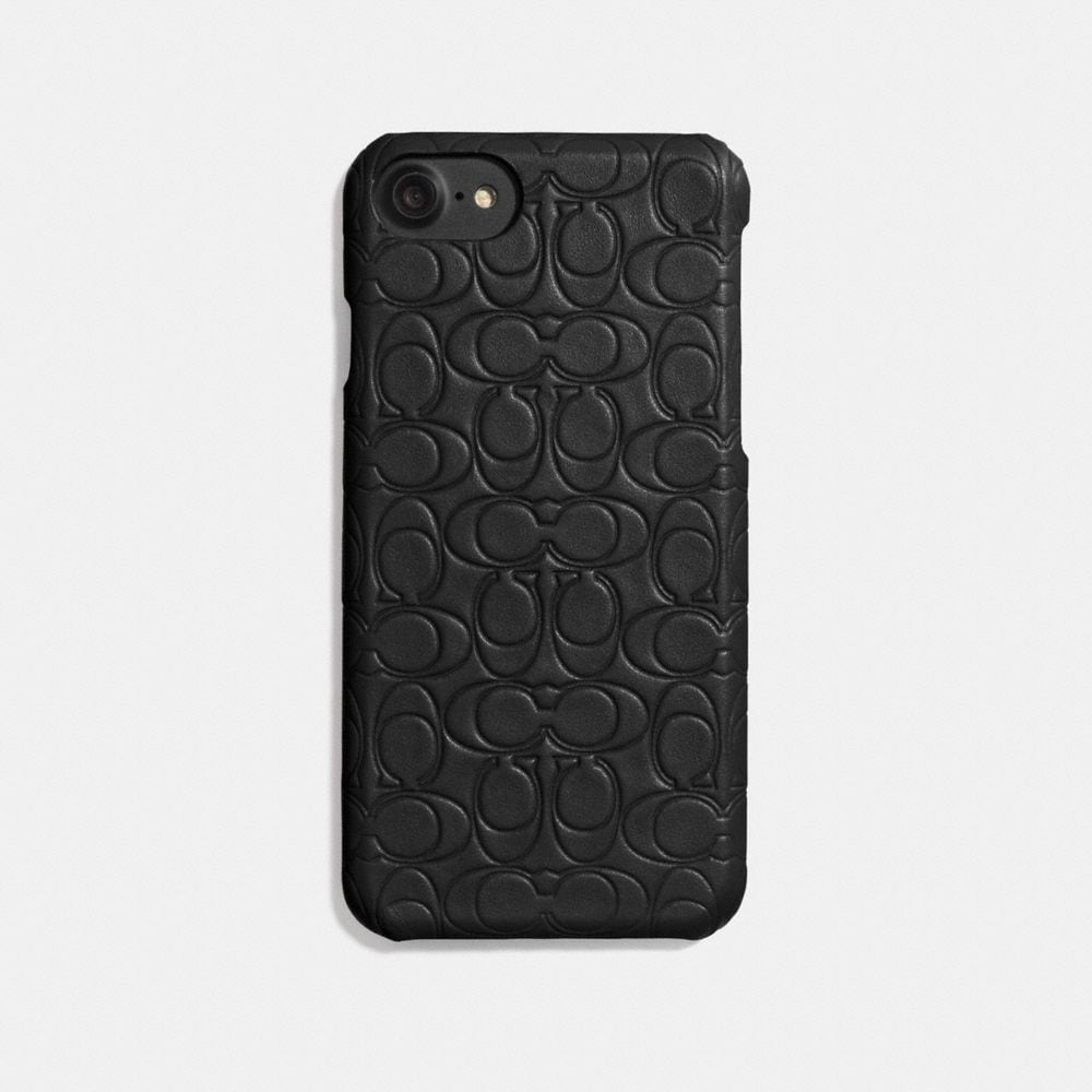 COACH: iPhone Case in Signature Leather