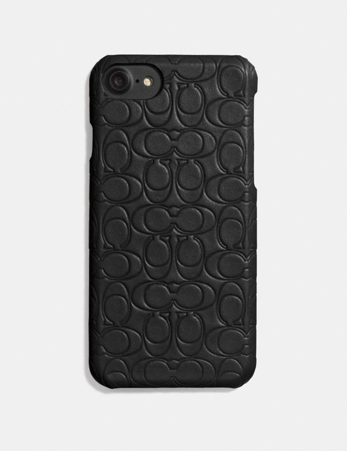 Coach iPhone 6s/7/8/X/Xs Case in Signature Leather Black VIP SALE Women's Sale Accessories