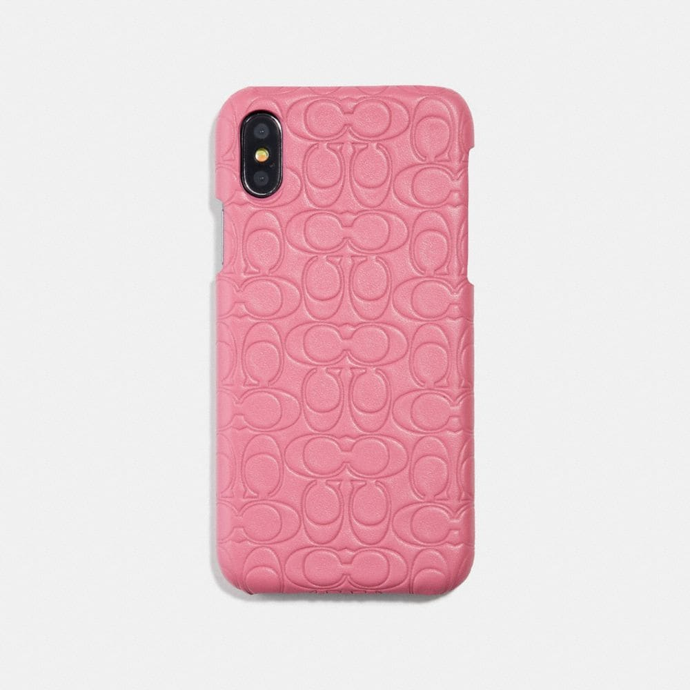 Coach iPhone 6s/7/8/X/Xs Case in Signature Leather Alternate View 1