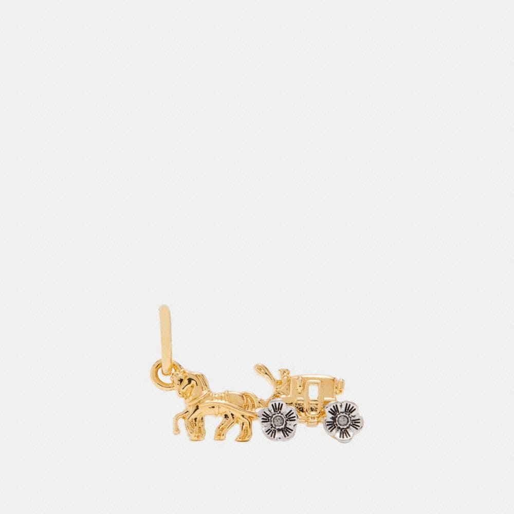 Coach Tea Rose Horse and Carriage Charm