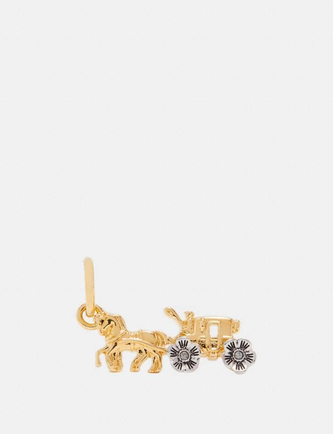 Coach Tea Rose Horse and Carriage Charm Silver/Gold SALE Women's Sale Accessories