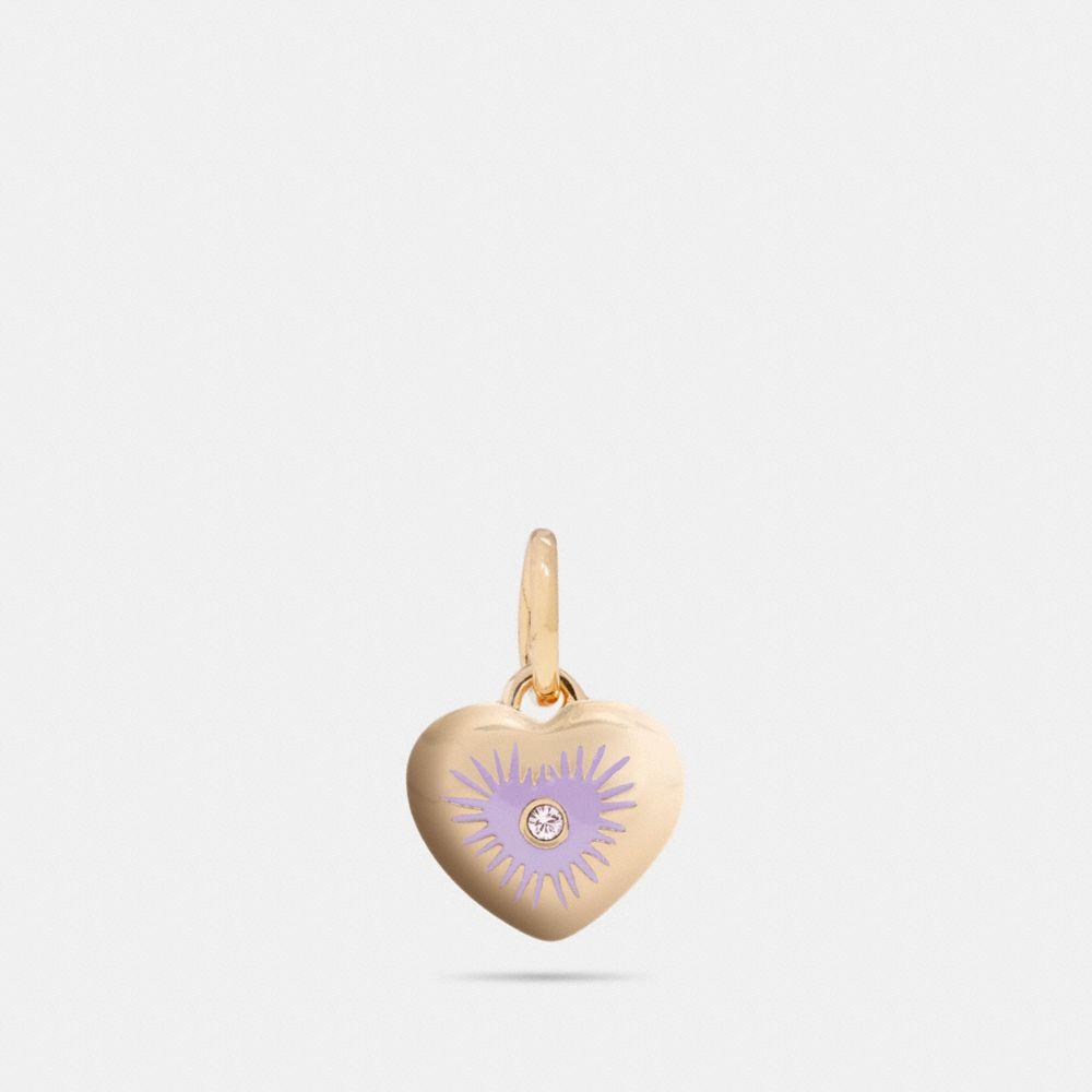 heart rivet charm