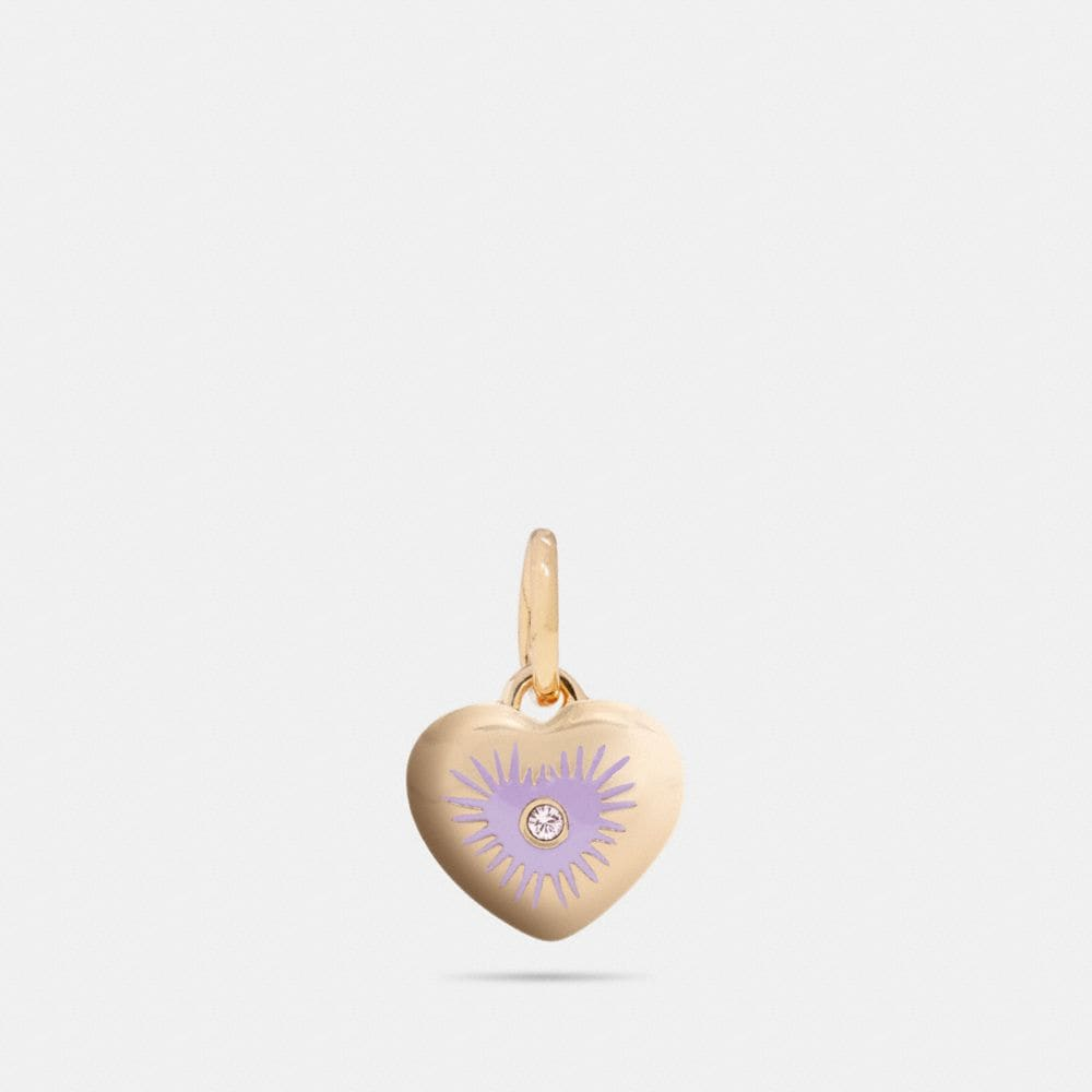Coach Heart Rivet Charm