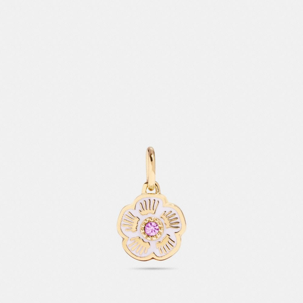 COACH TEA ROSE CHARM - WOMEN'S