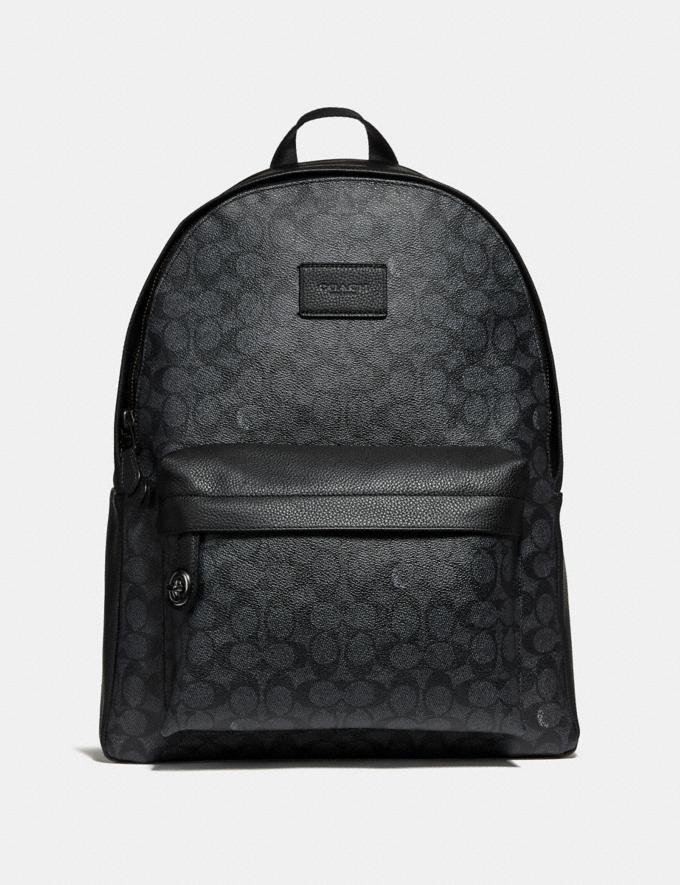 Coach Campus Backpack in Signature Canvas Charcoal/Black Antique Nickel Men Bags View All