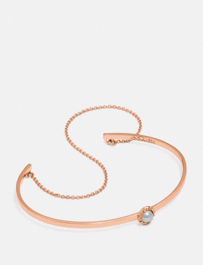 Coach Demi-Fine Sunburst Chain Cuff Grey/Rose Gold Gifts For Her