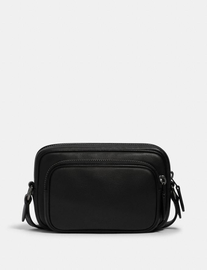 Coach Mini Edge Double Pouch Crossbody Qb/Black