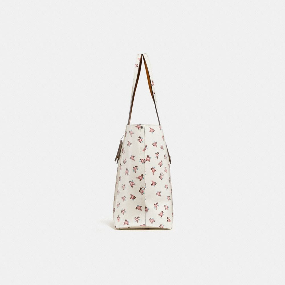 Coach Market Tote With Floral Bloom Print Alternate View 1