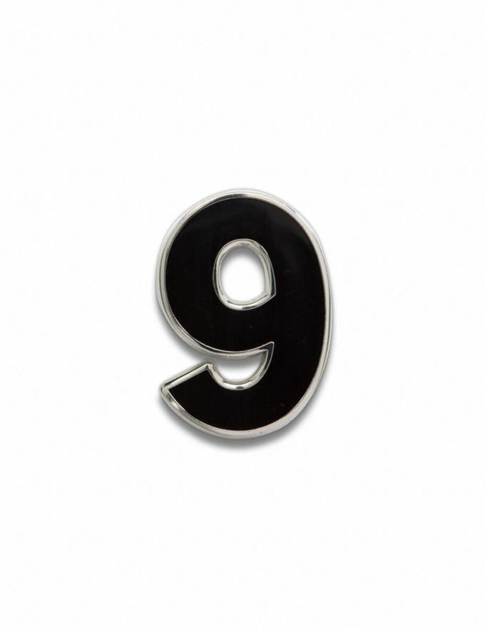 Coach Number 9 Souvenir Pin Black Customization For Her Customization SKUs