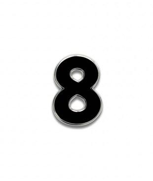 Number 8 Souvenir Pin
