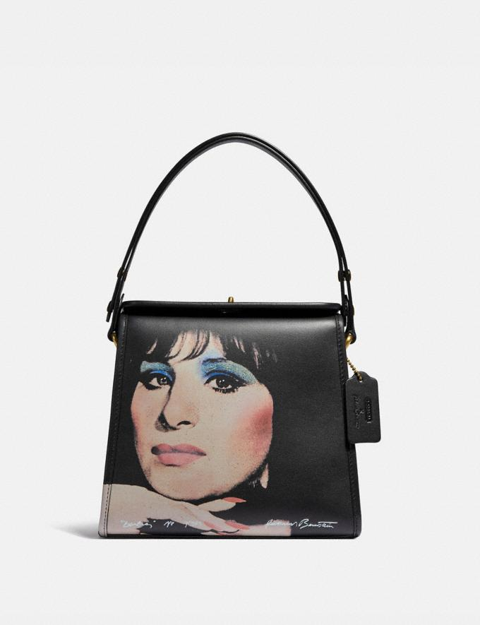 Coach Coach X Richard Bernstein Turnlock Shoulder Bag With Barbra Streisand B4/Black Multi New Featured 30% off (and more)