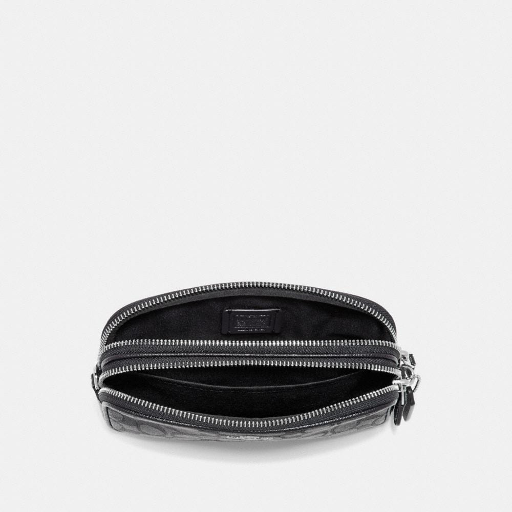 Coach Boxed Sadie Crossbody Clutch in Signature Jacquard Alternate View 2