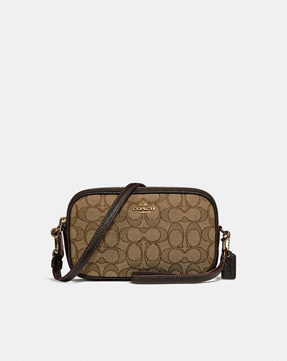 a683e20a0893 COACH  Boxed Sadie Crossbody Clutch in Signature Jacquard