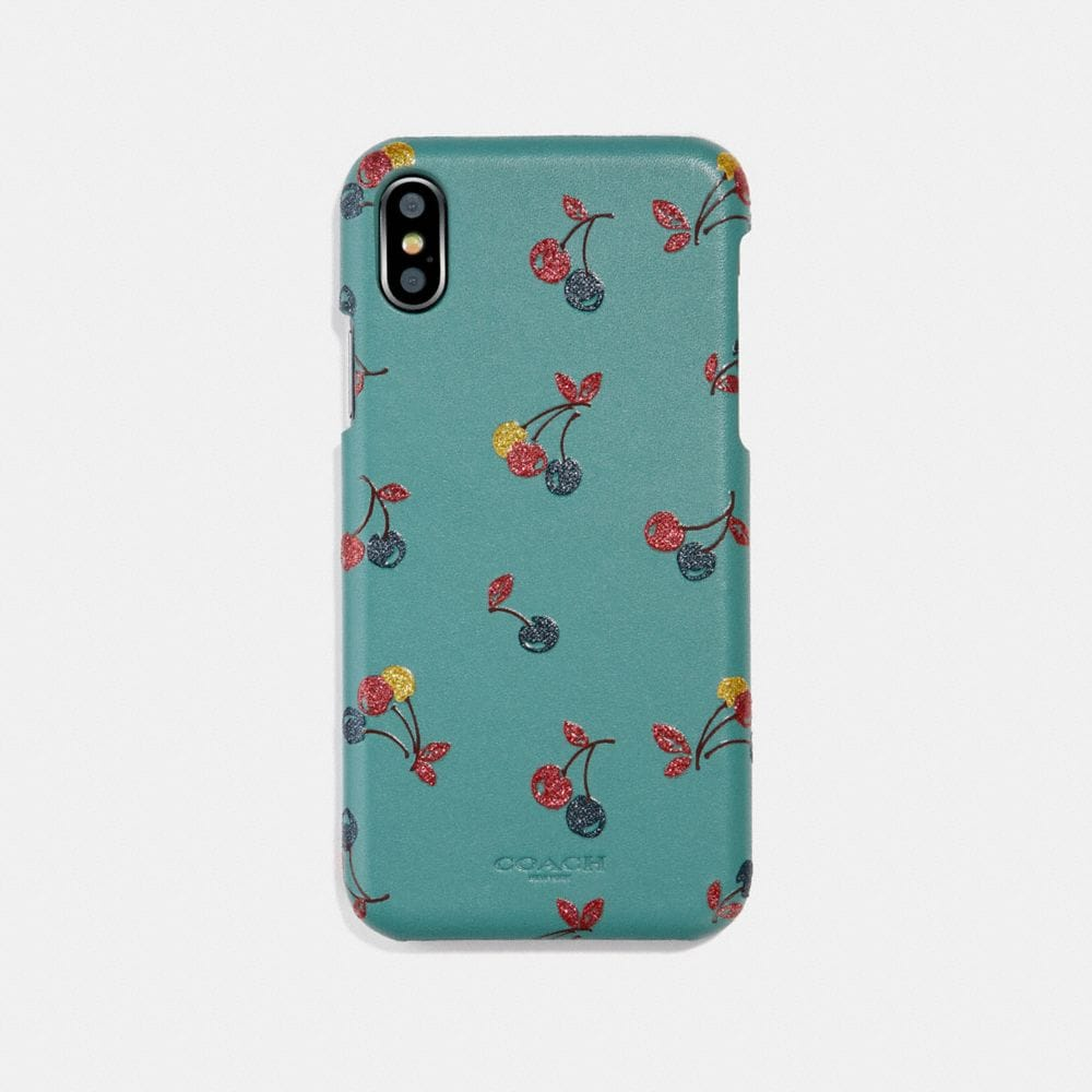 Coach iPhone 7/X Case With Cherry Print Alternate View 1