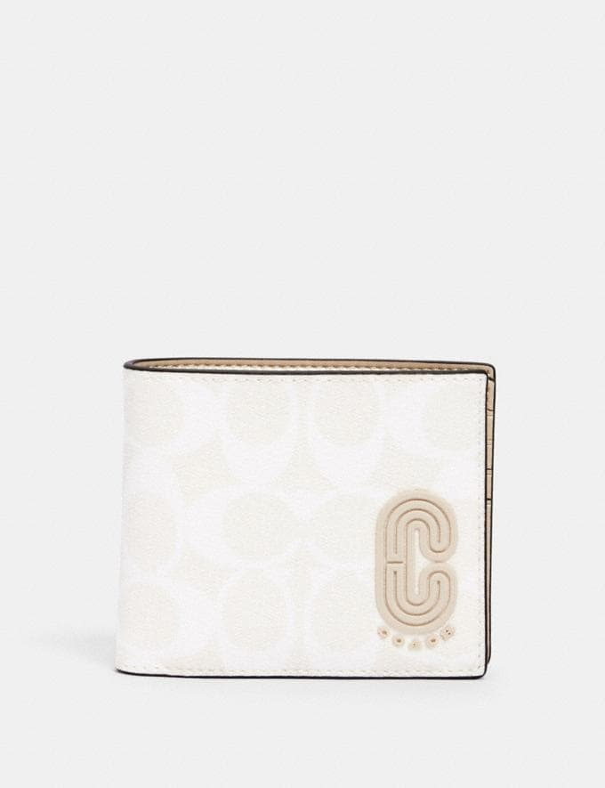 Coach 3-In-1 Wallet in Signature Canvas With Coach Patch Qb/Chalk Steam Men