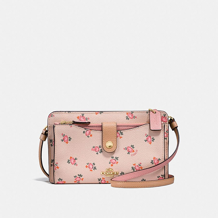 POP-UP MESSENGER WITH FLORAL BLOOM PRINT
