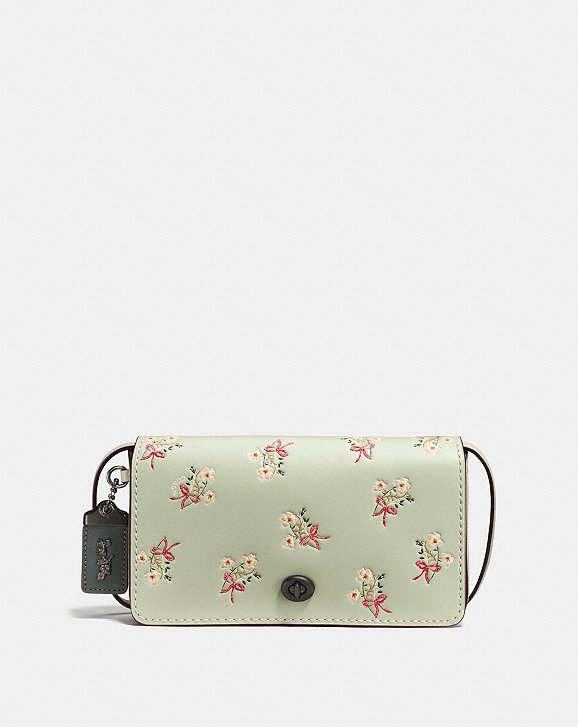 Coach Dinky With Floral Bow Print