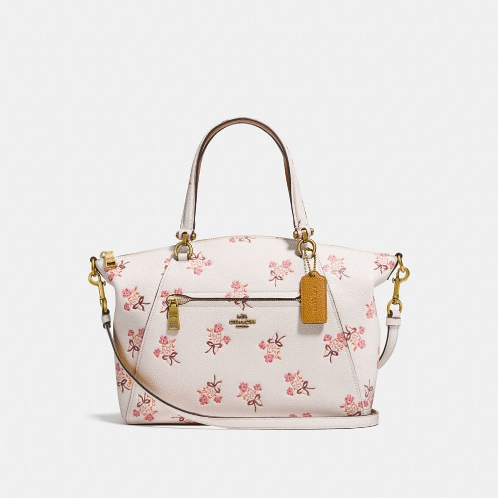 prairie satchel with floral bow print