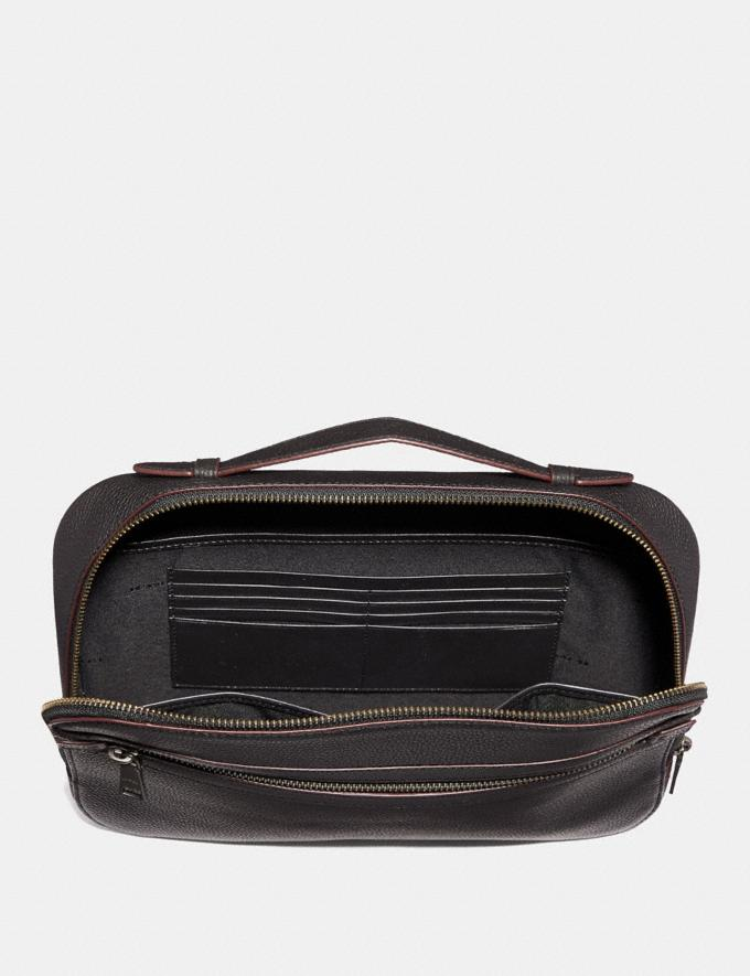Coach Academy Travel Case Heather Grey SALEDDD Men's Sale Accessories Alternate View 1