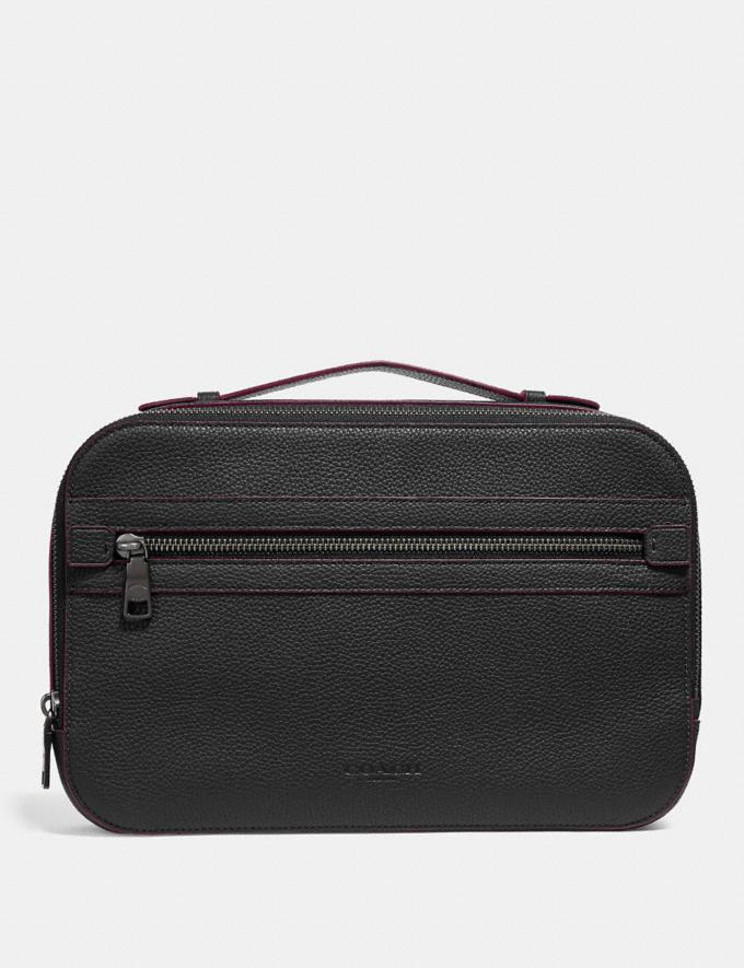 Coach Academy Travel Case Black Men Accessories Travel