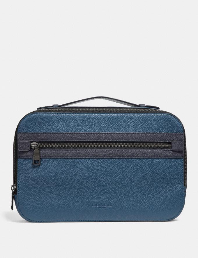 Coach Academy Travel Case Denim SALE Men's Sale Accessories