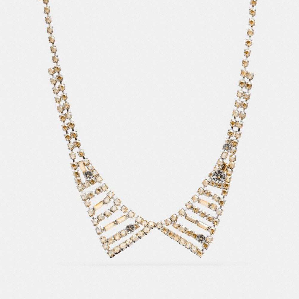 Coach Small Crystal Collar Necklace