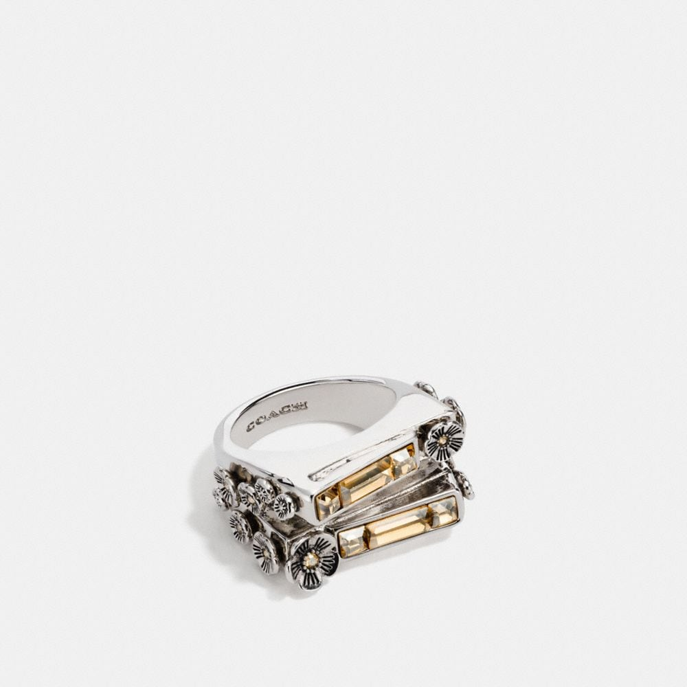 Coach Double Layer Stone Ring