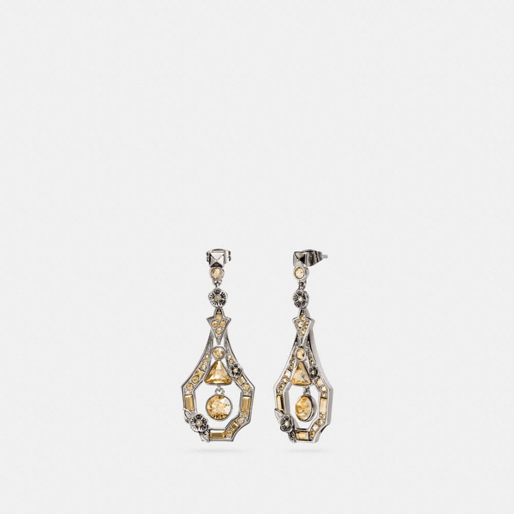 deco tea rose earring