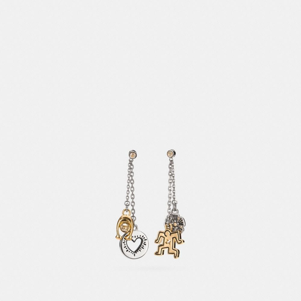 Coach Coach X Keith Haring Charm Drop Earring