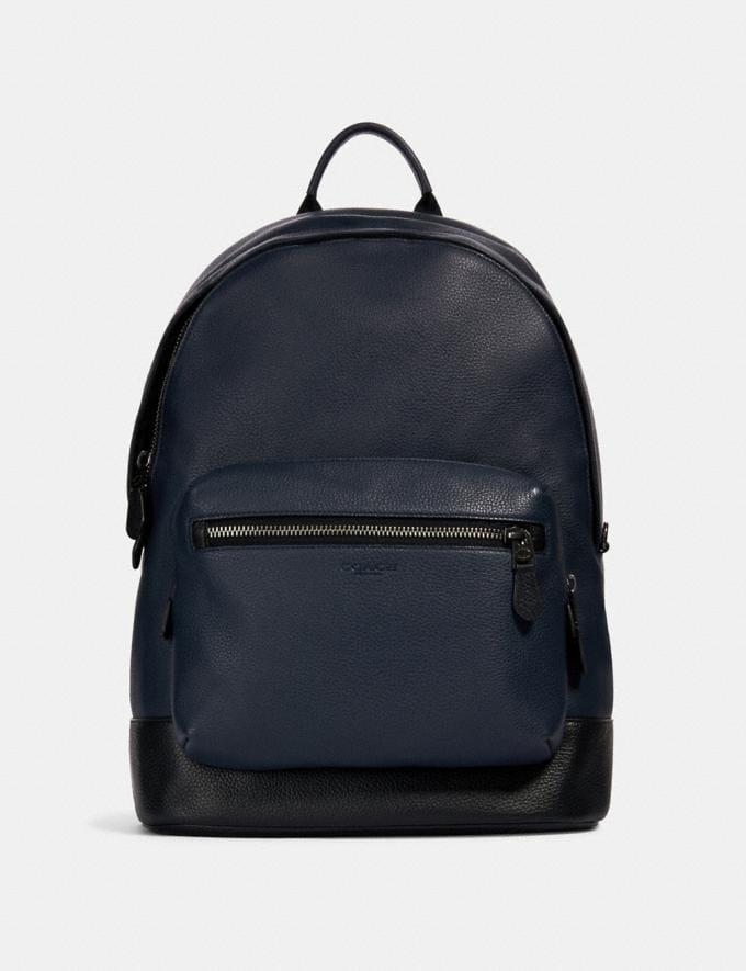 Coach West Backpack Qb/Midnight Navy Deals Just Reduced
