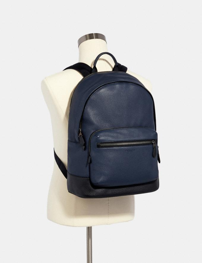 Coach West Backpack Qb/Midnight Navy Deals Just Reduced Alternate View 2